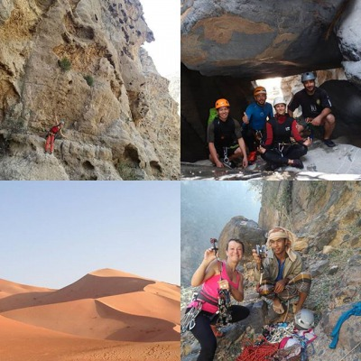 Rock climbing, wadis canyoning, trip to the desert... so much things to do in Oman <3