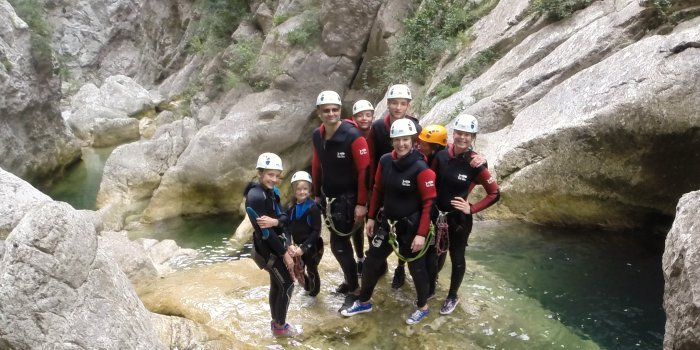 Canyoning en famille